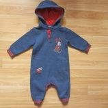 Новый фирменный теплый человечек Disnay малышу 6-9 месяцев