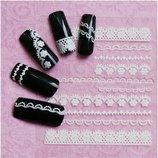 Кружевные наклейки на ногти