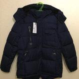 Теплая зимняя куртка-парка для мальчика