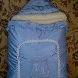 зимний конверт одеяло на выписку