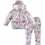 куртка детская костюм теплая некст next с кроликом кроликами парка комбинезон