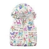 жилетка детская жилет куртка теплая зимняя парка некст next с кроликом кроликами для девочки