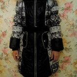 Зимнее пальто, пуховик р.134-146 Торг уместен