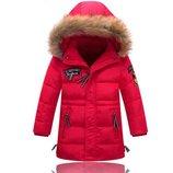 куртка зимняя на мальчика детская парка теплая пуховая пуховик девочки