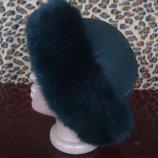 Натуральная шапочка для дам.