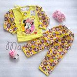 Пижамы с начесом для девочки. Рост 86-98, 110-122