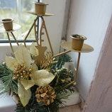 Подсвечник новогодний, рождественский