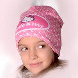 Зимняя детская шапка на флисе