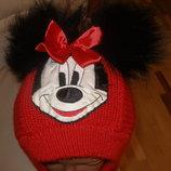 Теплая зимняя шапка на 3-6 лет