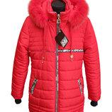 Зимнее пальто Love , натуральная опушка, флис, 36-44 на рост 140-164 см.
