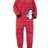 Флисовые человечки пижамки Carters