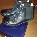 Мужские ботинки туфли демисезонные кожаные полуботинки