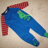 Флисовый человечек пижама Early days на 12-18 месяцев рост 86 см