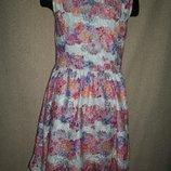 Нарядное платье из цветного гипюра F&F 8-9л