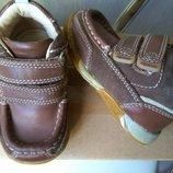 Кожаные ботинки туфли Norvic Англия, аналог Clarks, 12,5см