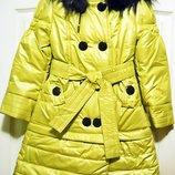 Детский плащик-трансформер Алеся , рост 128 зима