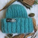 Вязаная стильная шапка ручная работа В Наличии И Под Заказ