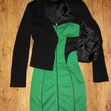 Яркое бандажное платье на Новый Год 3 цвета без пиджака