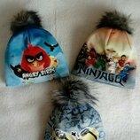 Зимние шапочки на флисе для мальчиков