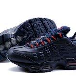 Кроссовки зимние Nike Air Max, р. 41-45, на меху, синий, черный, код kv-312