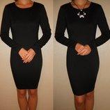 Платье черное теплое базовое 10 38 р.