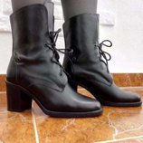 Сапоги ботинки кожа р. 39 ст. 25 см.
