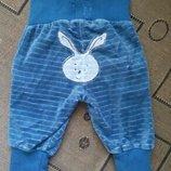 Смешные велюровые штанишки newborn для зайки