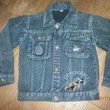 Стильная джинсовая курточка на 5-7 лет