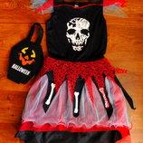 платье на 13-14 лет ведьма George Хэллоуин Halloween карнавальное с сумкой