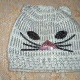 детская шапочка вязанная из Германии кошечка