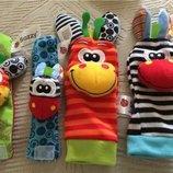 Игрушки погремушки браслеты и носочки на ручки и ножки