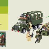 Конструктор Brick Военная машина , 308 дет., блокпост, 811