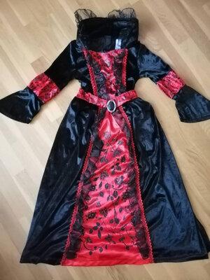 Костюм вампірка на 3-5, 6-9, 8-12 р, вампирша, зла королева, ніч, відьмочка, паучок ведьма - Позняки