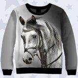 Прикольный 3D свитшот Лошадь, возраст 1-13лет
