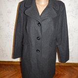 пальто 47% шерсть стильное модное р18 большой размер
