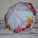Обалденный зонтик зонт детский для вашей малышни и подростков Щенки Щеночки Собачки матовая клеенка