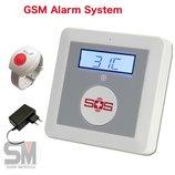 Cигнализация gsm термометр кнопка SOS M-10