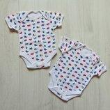 Новый комплект из 2-х бодиков для новорожденного. F&F. Размер 0-1 месяц
