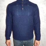 свитер мужской с горлом 50% шерсть стильный модный рL
