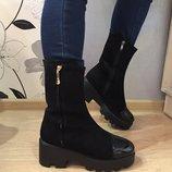 Женские высокие зимние ботинки
