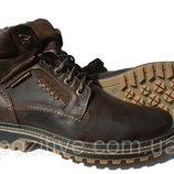 Мужские кожаные зимние ботинки модель R-3
