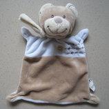 Слюновпитывающее велюровое полотенце комфортер Мишка