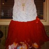 Платье для девочки принцессы от года годик праздничное