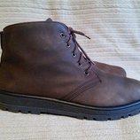 Фирменные утепленные ботинки из натурального нубука Rohde. Германия. 8
