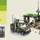 Конструктор Brick Военные , 285дет., 6 лет, в кор. 29 19 5см 809
