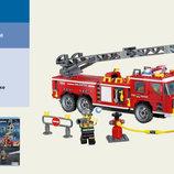 Конструктор Brick Пожарная охрана 607дет. 6лет, 908