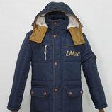 Новинка, куртка/парка зимняя для мальчиков Илья , 122-152 см, синтепух