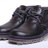 Зимние кожаные ботинки Clarks Originals Black 080