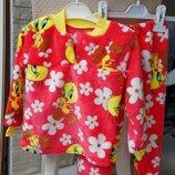 Махровые пижамы на девочек1.2 г