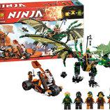 Конструктор Bela серия Ninja / Ниндзя 10526 Зелёный энерджи дракон Ллойда аналог Lego Ninjago 70593